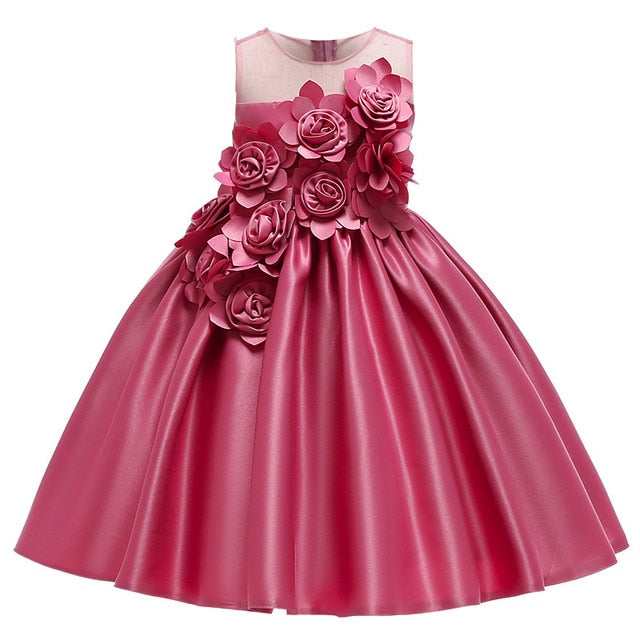 Kids Dresses For Girls Elegant Princess Dress, Pink98 / 799, Pink98, 799, [option3] - anythinganyware
