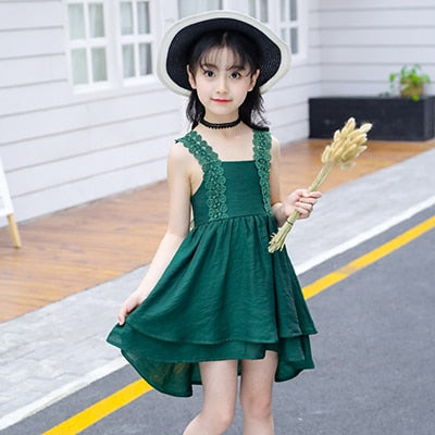 Summer Dress 2019 new children Sleeveless dress, B2 / 10, B2, 10, [option3] - anythinganyware