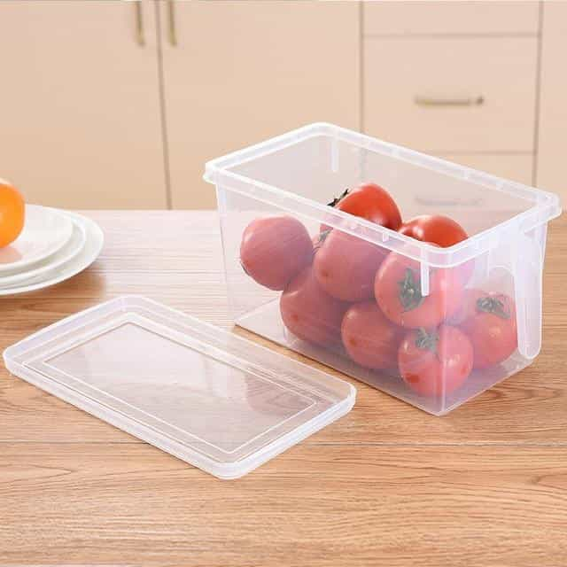 Kitchen Transparent PP Storage Box, Clear, Clear, [option2], [option3] - anythinganyware