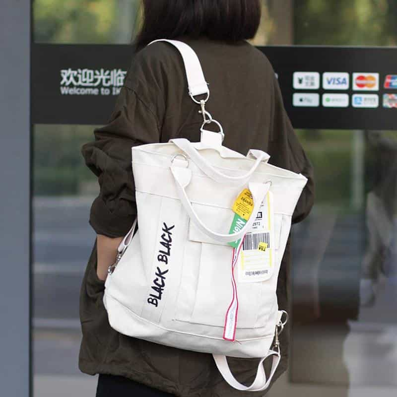 Korean Style Casual Canvas Shoulder Bag, [variant_title], [option1], [option2], [option3] - anythinganyware