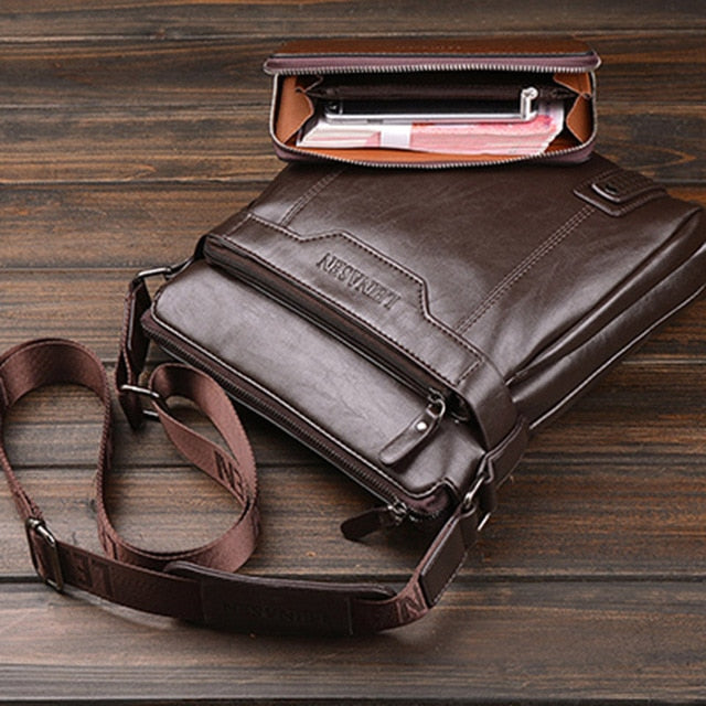 Branded 2019 casual Men Messenger Bags se, brown with wallet, brown with wallet, [option2], [option3] - anythinganyware