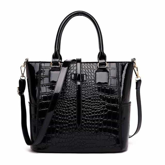 2 Sets Luxury Alligator Bag Women, Black, Black, [option2], [option3] - anythinganyware