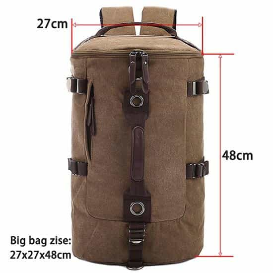 Large Capacity Man Travel Bag Mountaineering Backpack, coffee large, coffee large, [option2], [option3] - anythinganyware