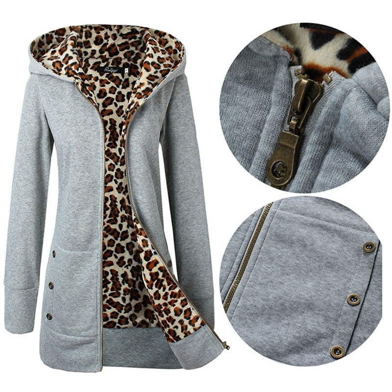 Leopard Hoodies Woman Winter  Sweatshirt Women Coat, [variant_title], [option1], [option2], [option3] - anythinganyware