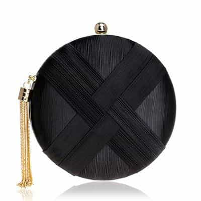 Luxury Silk Tassel Women Evening Bag, black, black, [option2], [option3] - anythinganyware