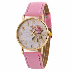 New Arrival Rose Pattern Watches, 9194 pink, 9194 pink, [option2], [option3] - anythinganyware