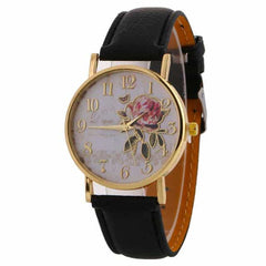 New Arrival Rose Pattern Watches, 9190 black, 9190 black, [option2], [option3] - anythinganyware