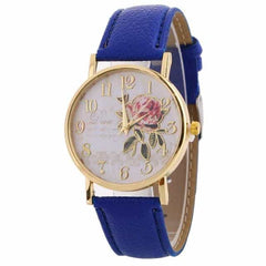 New Arrival Rose Pattern Watches, 9189 blue, 9189 blue, [option2], [option3] - anythinganyware