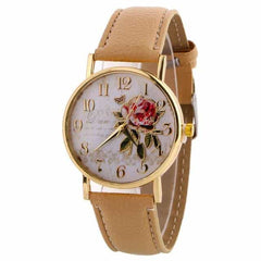New Arrival Rose Pattern Watches, 9195 beige, 9195 beige, [option2], [option3] - anythinganyware