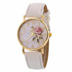 New Arrival Rose Pattern Watches, 9187 white, 9187 white, [option2], [option3] - anythinganyware