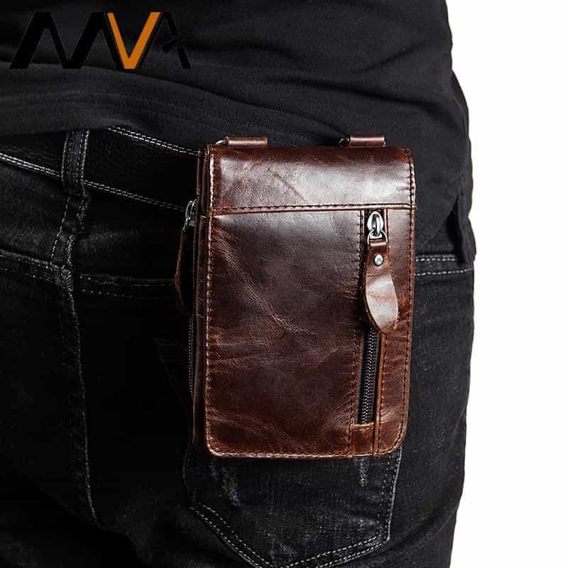Genuine Leather Waist Packs Fanny Pack Belt Bag, [variant_title], [option1], [option2], [option3] - anythinganyware