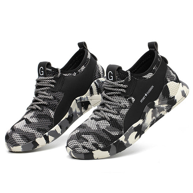 Male Steel Toe Work Safety Shoes, Camouflage / 8.5, Camouflage, 8.5, [option3] - anythinganyware