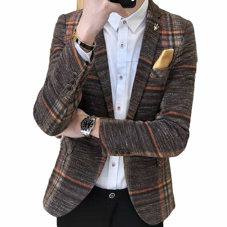 Men Blazer Slim Fit Wedding Casual Blazer Jacket Suit, [variant_title], [option1], [option2], [option3] - anythinganyware