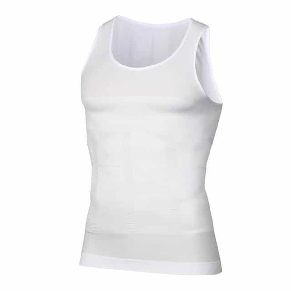 Men Body Shapers Fitness Elastic, White / XXL, White, XXL, [option3] - anythinganyware