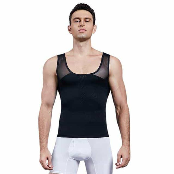 Men Shapewear Chest Compression Shirt, Black / S / United States, Black, S, United States - anythinganyware