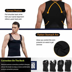 Men Shapewear Chest Compression Shirt, [variant_title], [option1], [option2], [option3] - anythinganyware