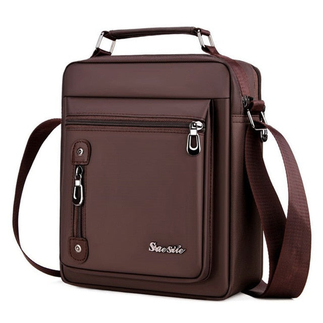 Men's Retro Style Oxford Cloth Material Multi-Function Shoulder Bag, brown, brown, [option2], [option3] - anythinganyware