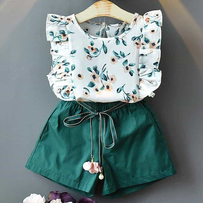 Girls Sets New Spring Summer Floral Children, [variant_title], [option1], [option2], [option3] - anythinganyware