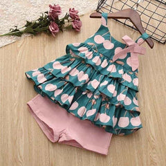Girls Sets New Spring Summer Floral Children, PinkAX1063 / 4T, PinkAX1063, 4T, [option3] - anythinganyware