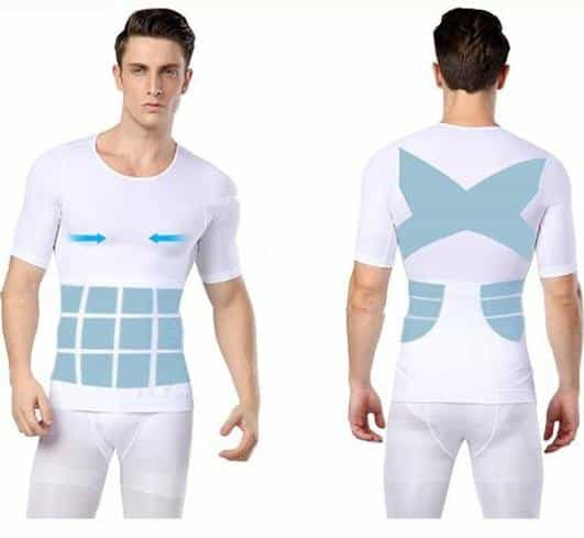 Mens Compression Shapewear Tshirt Body Shaper, [variant_title], [option1], [option2], [option3] - anythinganyware