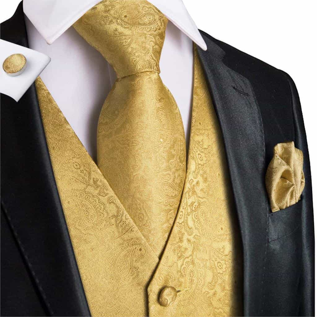 Mens Suit vest Wedding Stage Show Gold Shiny Gentlemen Vests, [variant_title], [option1], [option2], [option3] - anythinganyware