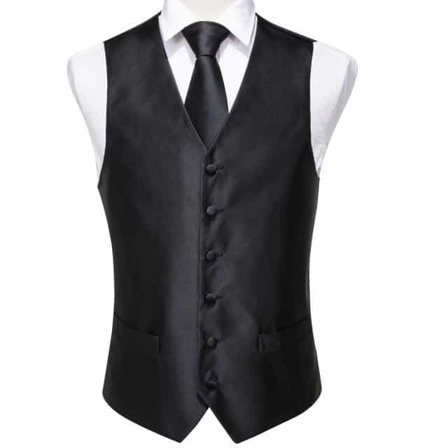 Mens Suit vest Wedding Stage Show Gold Shiny Gentlemen Vests, VE-0005 / XXXL, VE-0005, XXXL, [option3] - anythinganyware