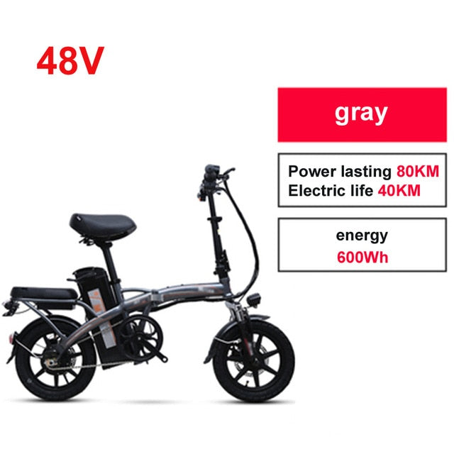 Mini Bike Folding Electric Bike 14inch Wheel Motor E Bike