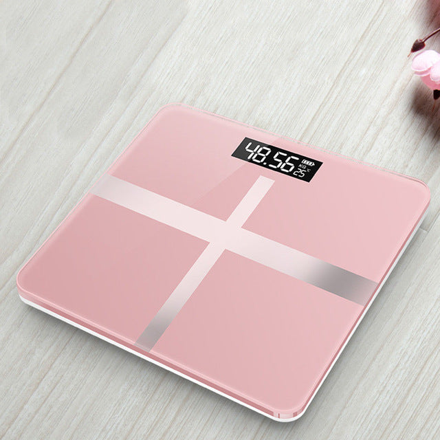 Bathroom Floor Body Scale Glass Smart Electronic Scales, Cross Rose Gold, Cross Rose Gold, [option2], [option3] - anythinganyware