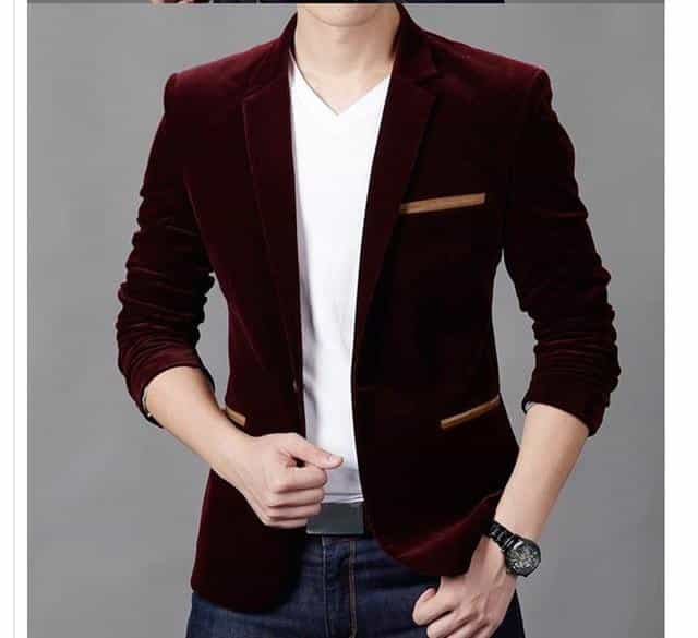 Fashion Brand Blazer British's Style casual Slim Fit suit jacket, Red / XXXL, Red, XXXL, [option3] - anythinganyware