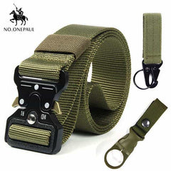 Tactical belt Military high quality, kk Package 1-2 green / 125cm, kk Package 1-2 green, 125cm, [option3] - anythinganyware