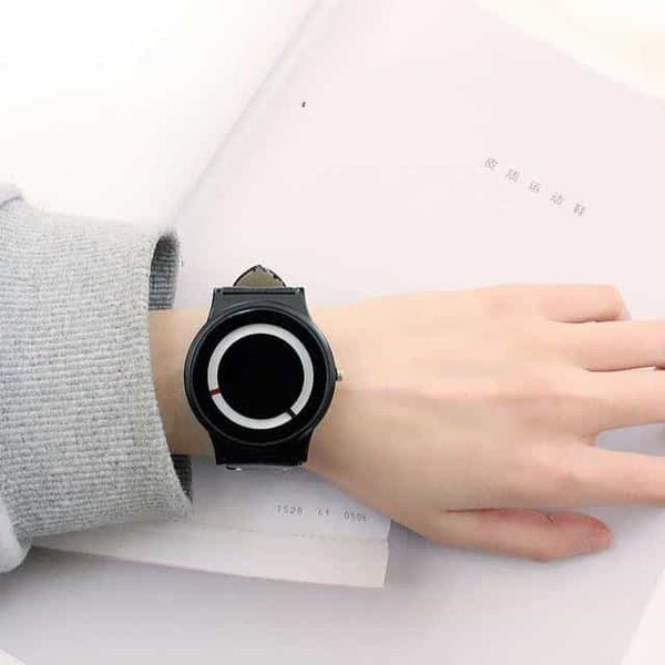 New Arrival Trend no-pointer Concept watch Simple, Black, Black, [option2], [option3] - anythinganyware