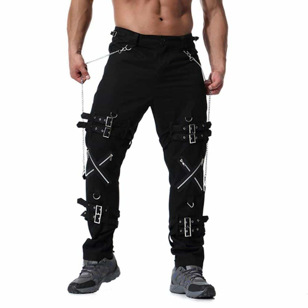 Men fashion hip hop joggers punk rock cargo pants, [variant_title], [option1], [option2], [option3] - anythinganyware
