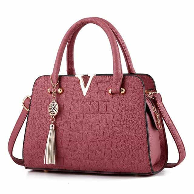 New Crocodile Pattern WomenHandbags, Pink, Pink, [option2], [option3] - anythinganyware