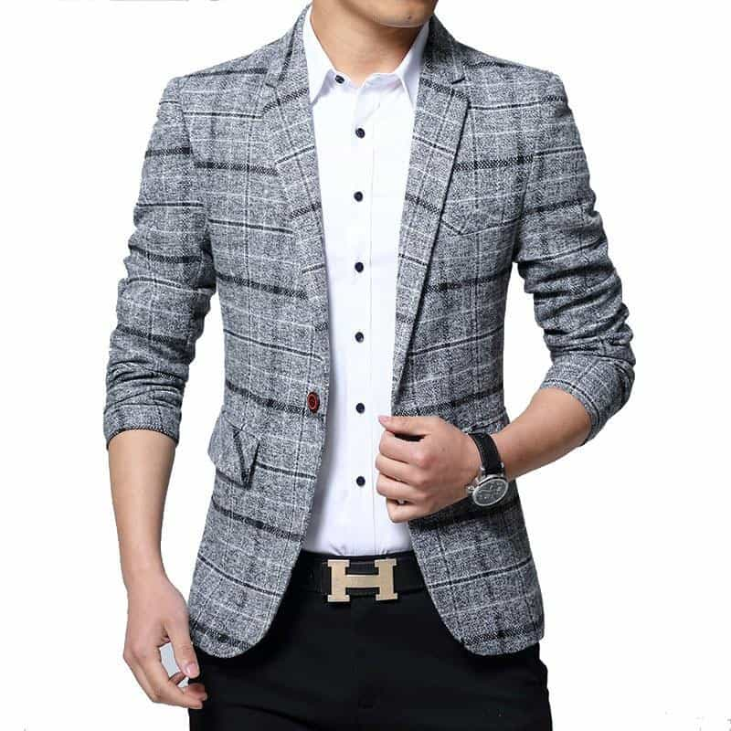 Male Slim Fat Business Casual Blazer Coat Men, [variant_title], [option1], [option2], [option3] - anythinganyware