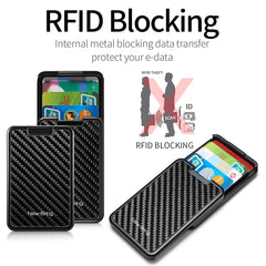 NewBring RFID Blocking  Sliding Wallet Card Holder, [variant_title], [option1], [option2], [option3] - anythinganyware