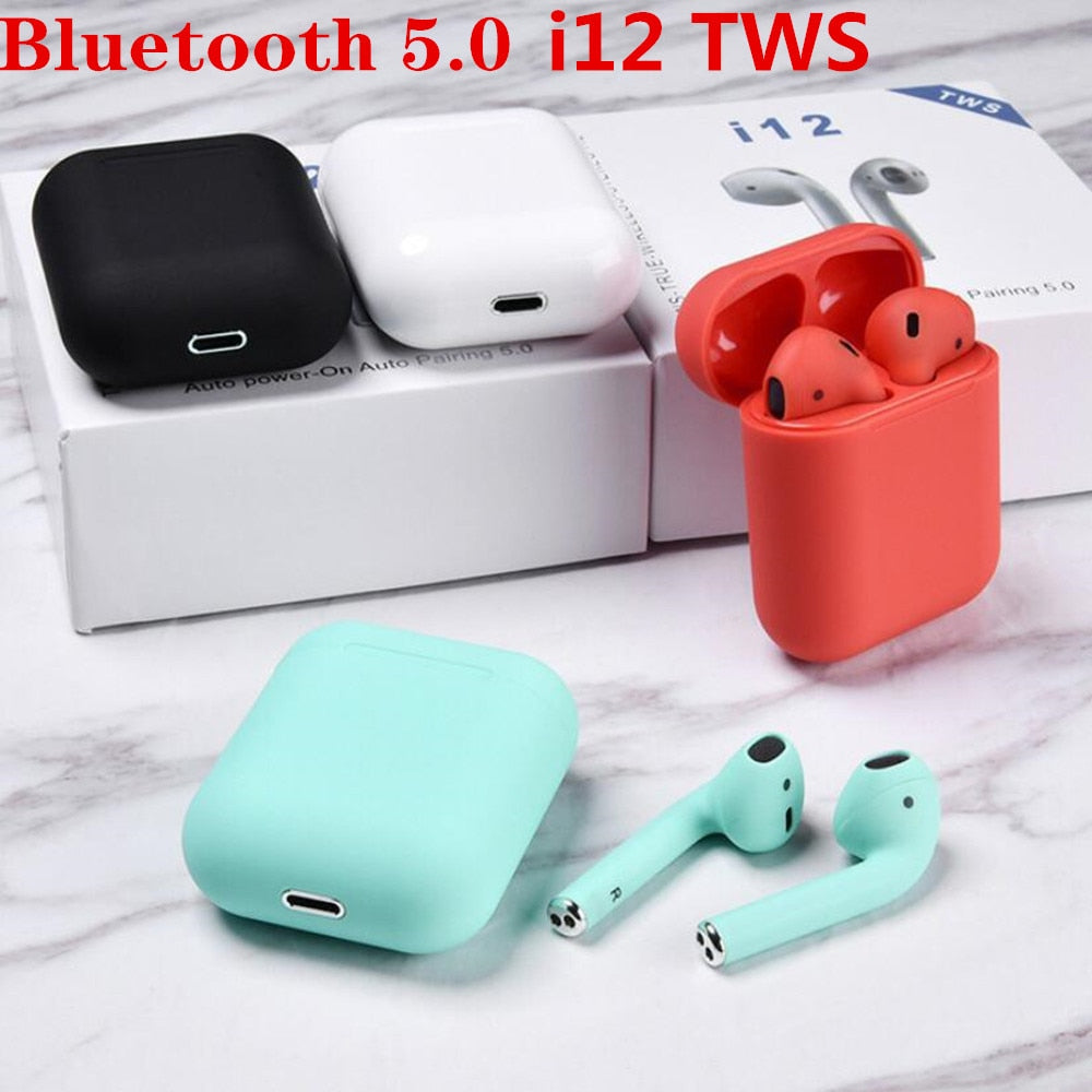 Original i12 TWS 2019 Wireless earphones, [variant_title], [option1], [option2], [option3] - anythinganyware