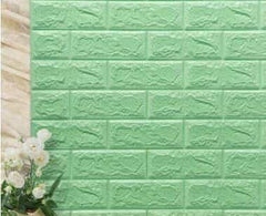 PE Foam 3D Stone Brick Panel Wall Sticker, Green, Green, [option2], [option3] - anythinganyware