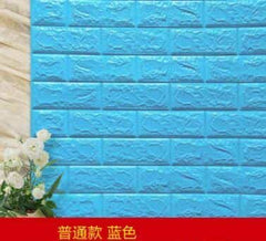 PE Foam 3D Stone Brick Panel Wall Sticker, Blue, Blue, [option2], [option3] - anythinganyware