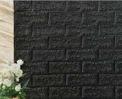 PE Foam 3D Stone Brick Panel Wall Sticker, Black, Black, [option2], [option3] - anythinganyware