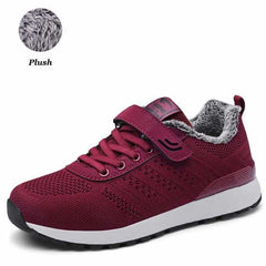 PINSEN 2019 Autumn Winter Sneakers Women Casual Shoes, M636 Red / 8, M636 Red, 8, [option3] - anythinganyware
