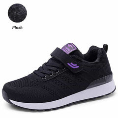 PINSEN 2019 Autumn Winter Sneakers Women Casual Shoes, M636 Black / 8, M636 Black, 8, [option3] - anythinganyware