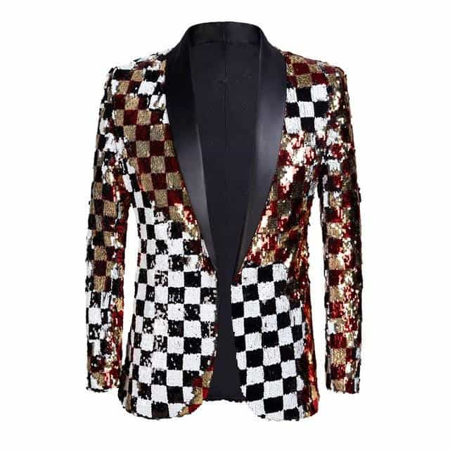 DJ Singer Suit Jacket Fashion Outfit, Plaid / M, Plaid, M, [option3] - anythinganyware