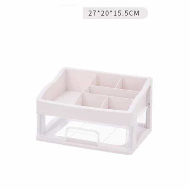 Plastic Makeup Organizer Cosmetic Drawer, Clear 1Layer, Clear 1Layer, [option2], [option3] - anythinganyware