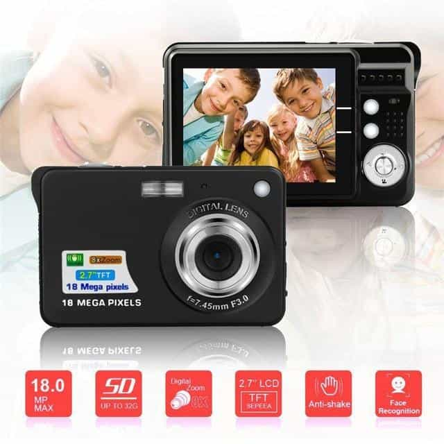 Portable Mini Digital Camera, Black, Black, [option2], [option3] - anythinganyware