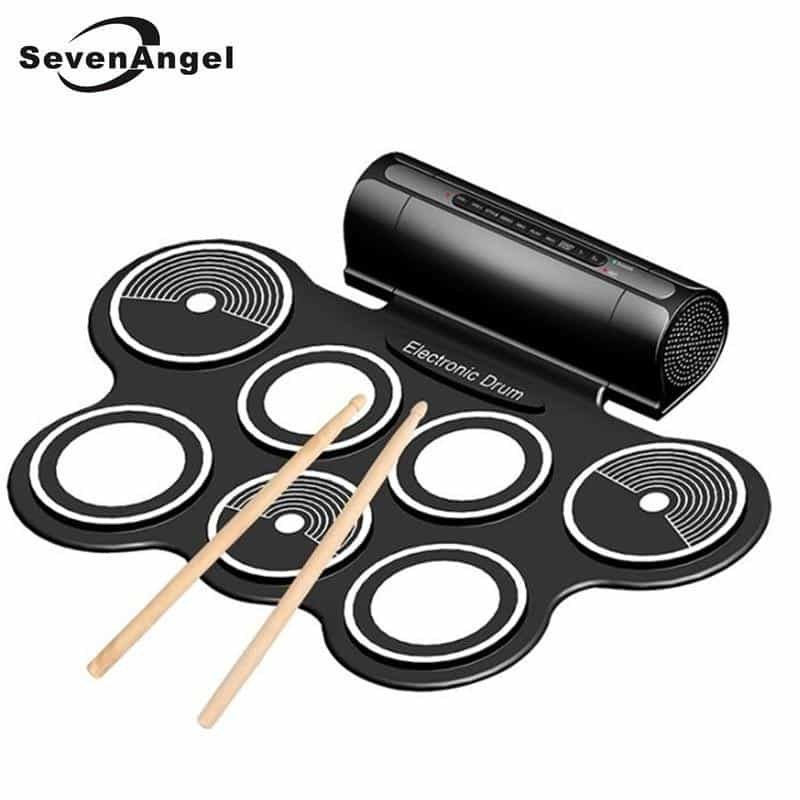 Professional Portable Roll Up USB MIDI Machine Electronic Drums Pad Kit, [variant_title], [option1], [option2], [option3] - anythinganyware