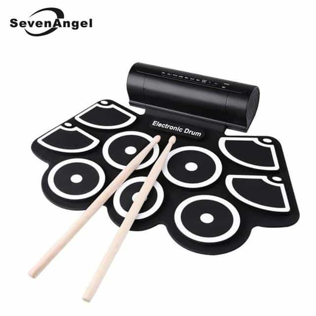 Professional Portable Roll Up USB MIDI Machine Electronic Drums Pad Kit, Black, Black, [option2], [option3] - anythinganyware