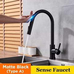 Pull Out Sensor Black Kitchen Faucet Tap, black type A / Israel, black type A, Israel, [option3] - anythinganyware