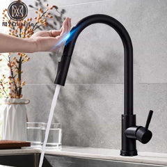 Pull Out Sensor Black Kitchen Faucet Tap, [variant_title], [option1], [option2], [option3] - anythinganyware