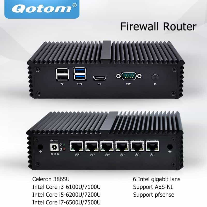 Qotom Mini PC 6 LAN Firewall Router Server Industrial micro pc, [variant_title], [option1], [option2], [option3] - anythinganyware