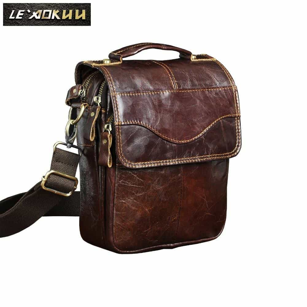 Quality Original Leather Male Casual Shoulder Messenger bag, [variant_title], [option1], [option2], [option3] - anythinganyware